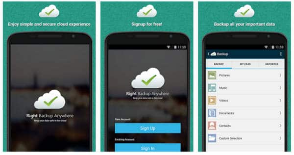 Right Backup Anywhere Android App Review: An online Backup Solution