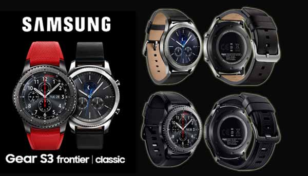 Smartwatch Products Samsung Gear S3 and Frontier