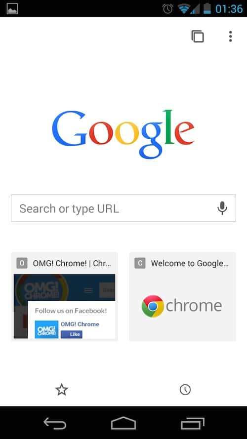 Chrome Mobile Web Browser