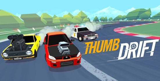 Thumb Drift Furious One Touch Car Racing Game