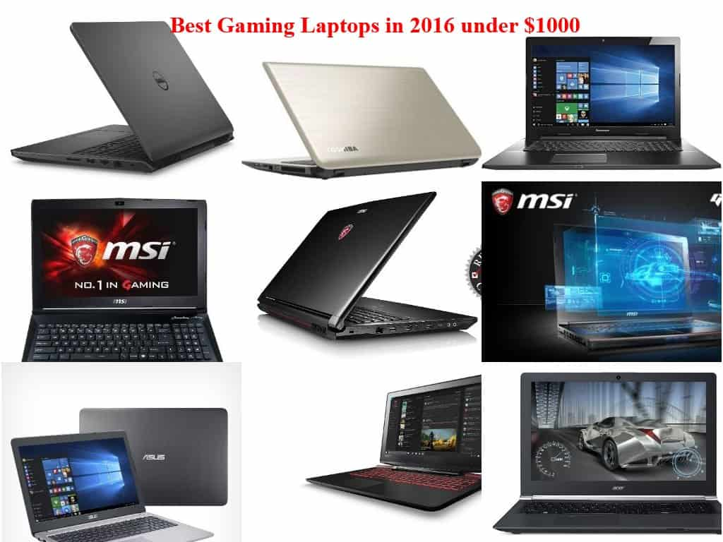 best-gaming-laptops-under 1000 dollars 2016